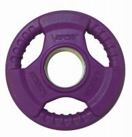 V-Sport LC-1.25 Диск олимпийский 1,25 кг обрезин. цветной с ручками