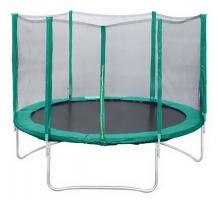 Батут с защитной сетью Trampoline Fitness 14 диаметр 4,3 м с сеткой