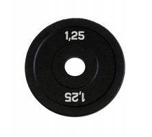 ORIGINAL FIT.TOOLS Диск бамперный 1,25 кг (черный), арт.FT-BPB-1,25