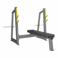 Силовой тренажер DHZ FITNESS Скамья-стойка для жима штанги лежа (Olympic Bench) A-3043