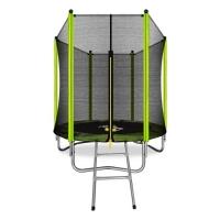 Батут с защитной сетью ARLAND 6FT с внешней страховочной сеткой и лестницей (Light green)