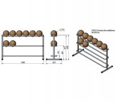 Силовой тренажер V-Sport ST913 Стойка для медболов (3 уровня)