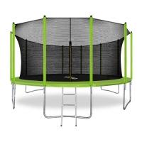 Батут с защитной сетью ARLAND 16FT с внутренней страховочной сеткой и лестницей (Light green)
